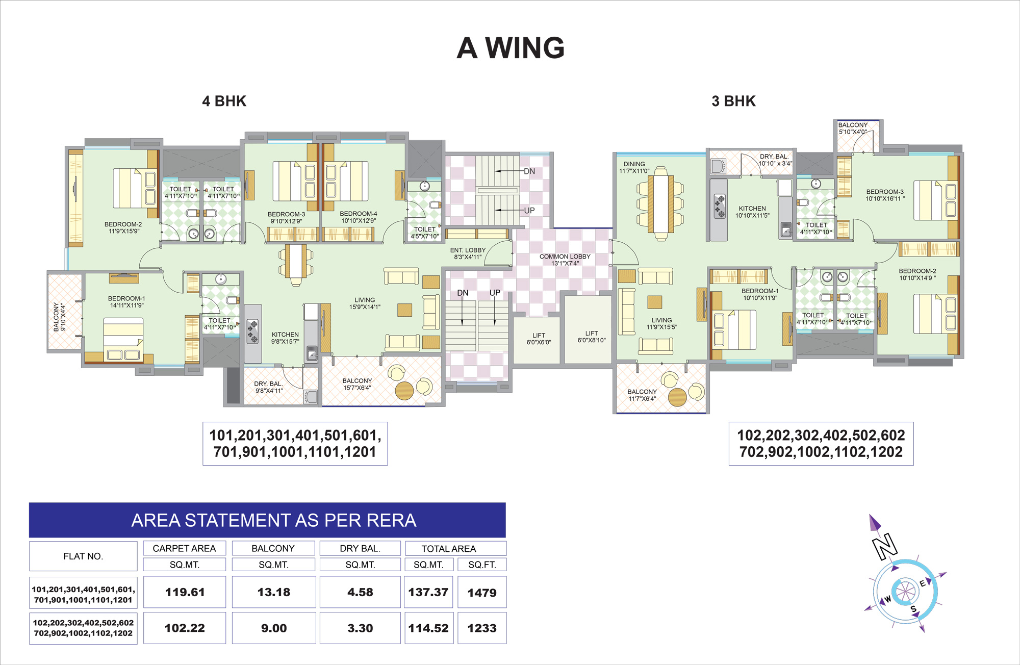 A Wings 1st-12th Floor a